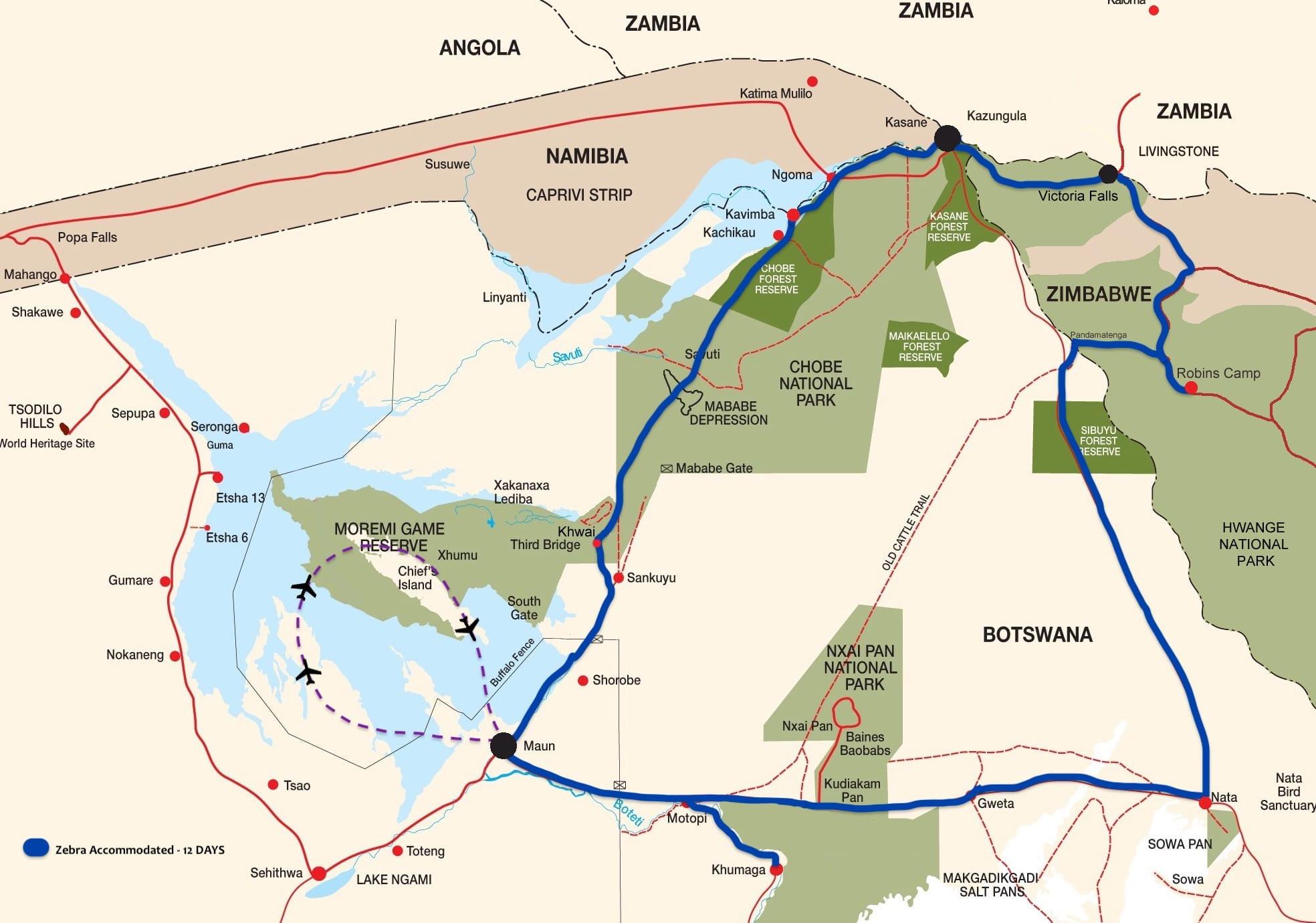 MAP - Bush Ways Zebra Accommodated - BW6