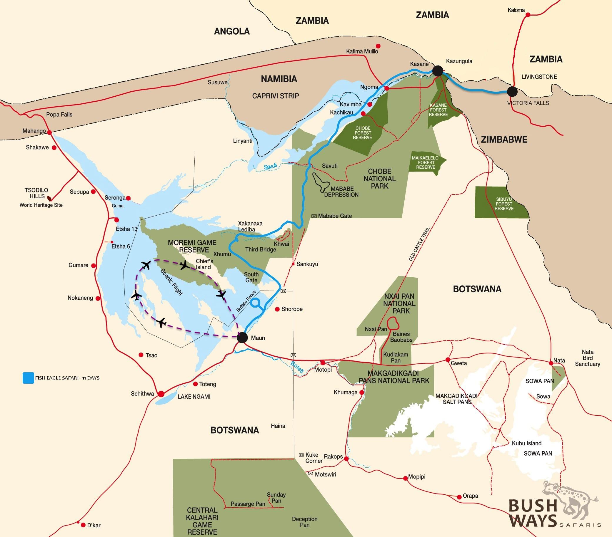 MAP - Bushways Map fisheagle19 - BW 5