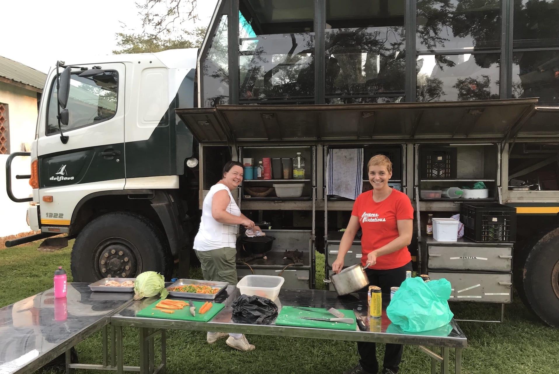 Eten koken tijdens een campingreis