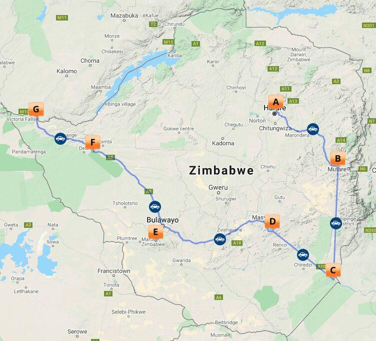 # MAP ZIM 1 - De vele gezichten van Zimbabwe