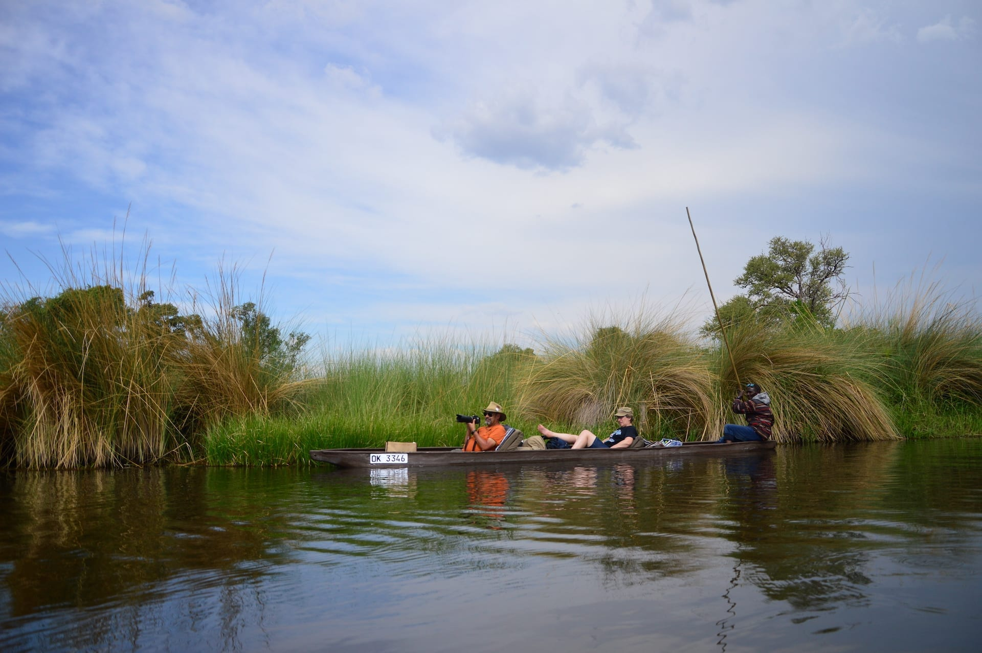 Mokoro tocht in de Delta